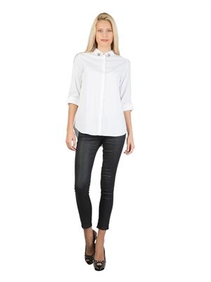 COLIN'S Beyaz Bayan Gömlek U.kol