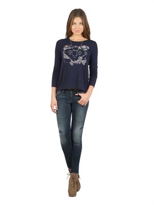 COLIN'S Lacivert Bayan Tshirt U.kol