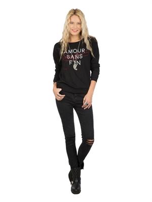 COLIN'S Siyah Bayan Sweatshirt