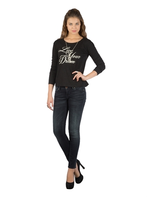 COLIN'S Siyah Bayan Tshirt U.kol