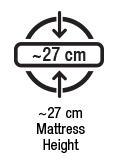 Approx 27 cm mattress height