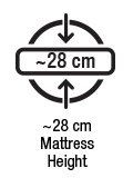 Approx 28 cm mattress height