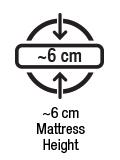 Approx 6 cm mattress height