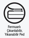 Fermuarlı çıkarabilir, yıkanabilir ped